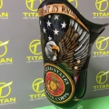 Transfemoral Laminated Socket with Marine Corp Bald Eagle Image